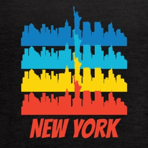 Retro New York City Skyline Pop Art - Women's Flowy Tank Top by Bella