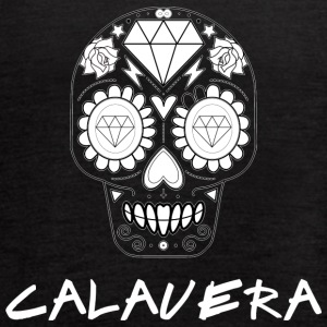 Calavera White - Women's Flowy Tank Top by Bella
