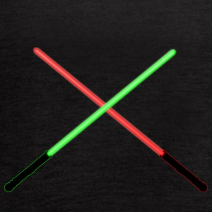 Red and Green Lightsaber Clash - Women's Flowy Tank Top by Bella