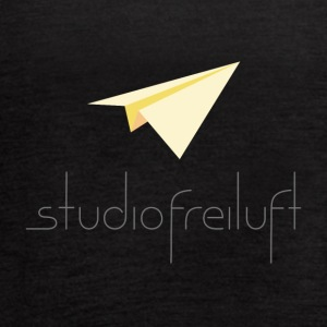 studiofreiluft logo design gray font - Women's Flowy Tank Top by Bella