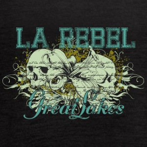 la_rebel_great_jokes_skulls - Women's Flowy Tank Top by Bella