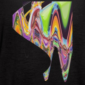 wave of abstract bird - Women's Flowy Tank Top by Bella