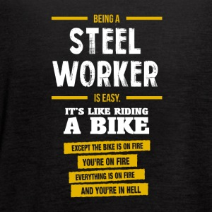 steel worker - Women's Flowy Tank Top by Bella