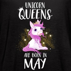 UNICORN QUEENS ARE BORN IN MAY - Women's Flowy Tank Top by Bella