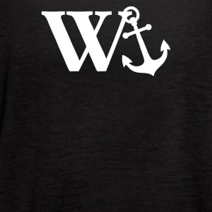 W Anchor Mens Funny Offensive - Women's Flowy Tank Top by Bella