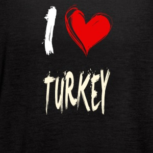 I love TURKEY - Women's Flowy Tank Top by Bella