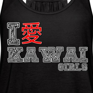 I love Kawai Girls - Women's Flowy Tank Top by Bella