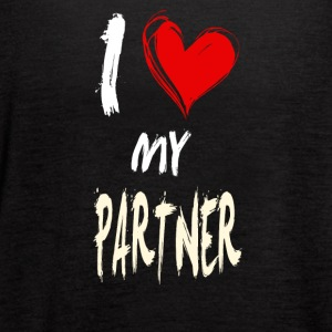 I love my PARTNER - Women's Flowy Tank Top by Bella