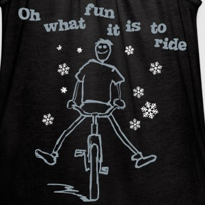 Oh what fun it is to ride a bike - Women's Flowy Tank Top by Bella