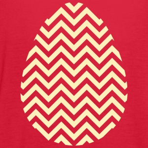 Gold Easter Egg Chevron - Women's Flowy Tank Top by Bella