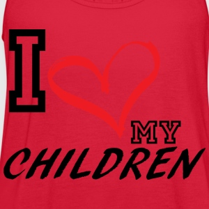 I_LOVE_MY_CHILDREN - PLUS SIZE FIT - Women's Flowy Tank Top by Bella