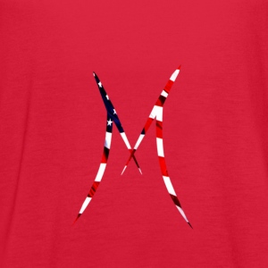 Official MAXIX MMXVII (M Logo) w American flag - Women's Flowy Tank Top by Bella