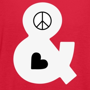Peace and Love - Women's Flowy Tank Top by Bella