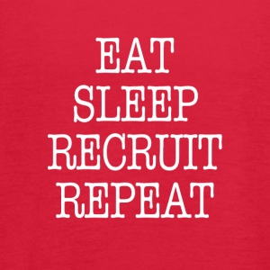 Eat Sleep Recruit Repeat Sorority Frat Tee shirt - Women's Flowy Tank Top by Bella