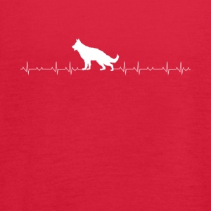German Shepherd heartbeat lover - Women's Flowy Tank Top by Bella