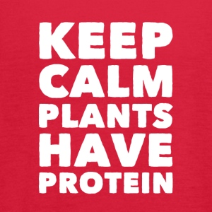 Keep calm plants have protein - Women's Flowy Tank Top by Bella