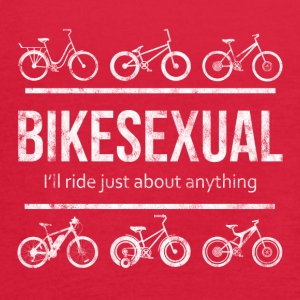 BIKESEXUAL - I'LL RIDE JUST ABOUT ANYTHING - Women's Flowy Tank Top by Bella
