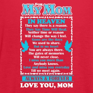 Mom In Heaven Shirt - Women's Flowy Tank Top by Bella