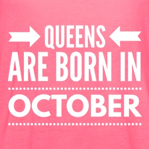Queens Born October - Women's Flowy Tank Top by Bella
