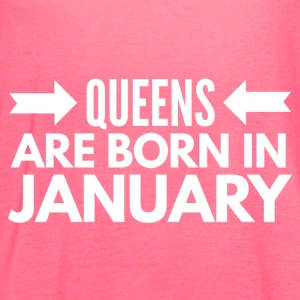 Queens Born January - Women's Flowy Tank Top by Bella