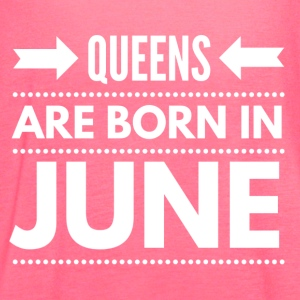 Queens Born June - Women's Flowy Tank Top by Bella