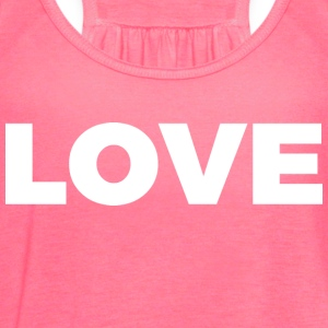 LOVE (White Letters - Big) - Women's Flowy Tank Top by Bella