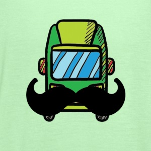 Hip Camper or Van with a Mustache - Women's Flowy Tank Top by Bella