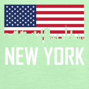 New York City Skyline American Flag - Women's Flowy Tank Top by Bella