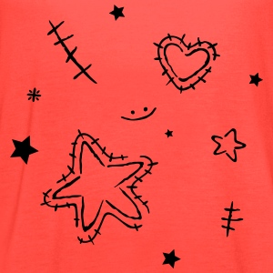 Heart with cracks and stars - Women's Flowy Tank Top by Bella