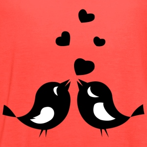 Love Birds - Women's Flowy Tank Top by Bella