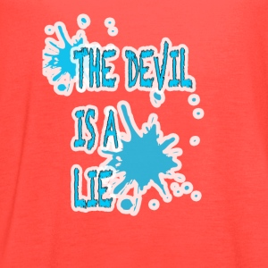 Devil is a lie - Women's Flowy Tank Top by Bella