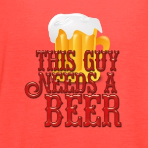 This Guy Needs a Beer - Women's Flowy Tank Top by Bella