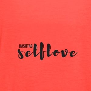hashtag_selflove_BLACK - Women's Flowy Tank Top by Bella