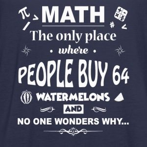 Math The Only Place Where People Buy 64 Watermelon - Women's Flowy Tank Top by Bella