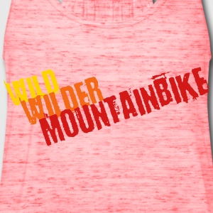 Wild, wilder, Mountainbike - Women's Flowy Tank Top by Bella