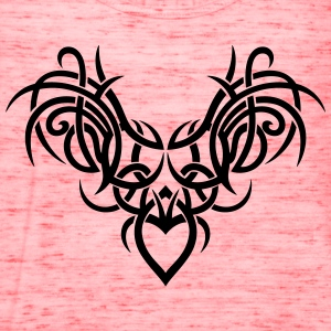 Tribal ornament with wings and heart. - Women's Flowy Tank Top by Bella