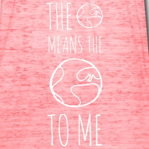 The World Means The World To Me - Women's Flowy Tank Top by Bella