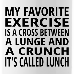 My Favorite Exercise Is Lunch - Water Bottle