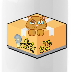 Get Out of The Box Meow T-shirt - Water Bottle