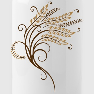 Filigree grain ears, baker, bakery - Water Bottle