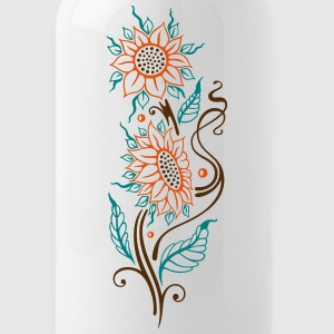 Colorful sunflowers, summer design - Water Bottle