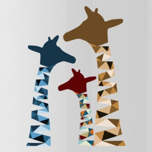 Abstract Colored Giraffe Family - Water Bottle