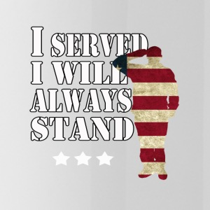 I served I will always stand. - Water Bottle