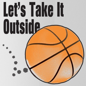 Let's Take It Outside basketball men, women, kids - Water Bottle