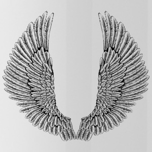 angelic-wings-vector - Water Bottle