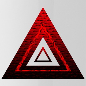 Red Ruby Rose Pyramid - Water Bottle