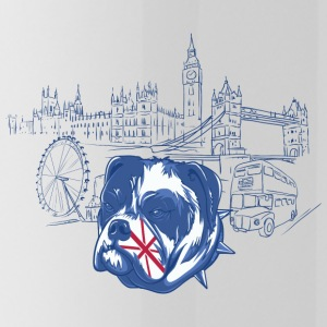 London with dog - Water Bottle