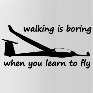 walking is boring when you learn to fly usa - Water Bottle