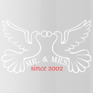 Mr And Mrs Since 2002 Married Marriage Engagement - Water Bottle