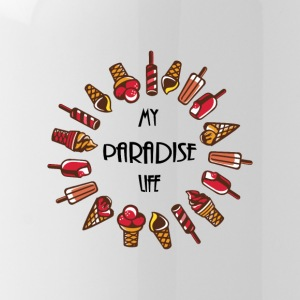 paradise life ice cream - Water Bottle
